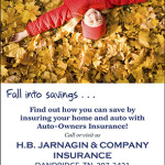 Auto-Owners Fall into Savings Ad