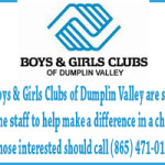 Boys and Girls Club of Dumplin Valley Help Wanted Ad