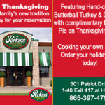 Perkins Thanksgiving 2014 Ad