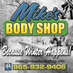 Mikes Body Shop Winter Ad