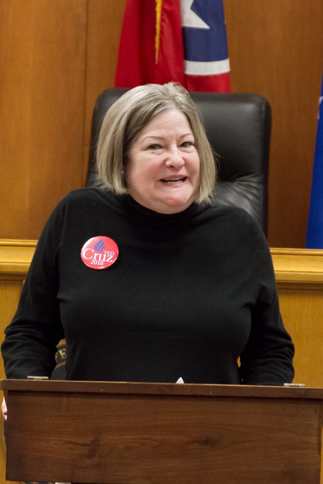 Claire Crouch, Regional Volunteer for Republican PartyStaff Photo by Jeff Depew