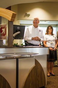Glenn Silers (President & CEO of Knoxville TVA Employees Credit Union) and Gwyn Owens (Morristown West Manager) during the grand opening.Photo by Bryan Allen