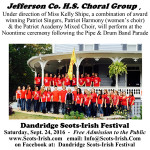 Scots-Irish Festival 2016 JCHS Choral Group