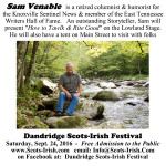 Scots-Irish Festival 2016 Sam Venable