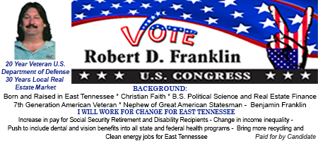 Robert Franklin For Congress Proof 2