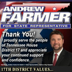 Andrew Farmer Re elect Thank You 11082016
