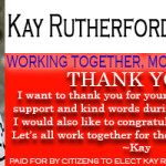 Kay Rutherford Williams For Mayor Dandridge Thank You 11082016