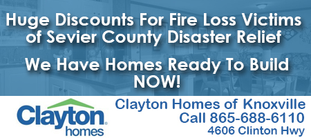 Clayton Homes of Knoxville Sevier County Fire Ad 12232016