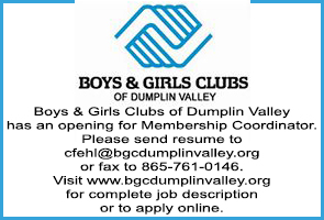 Boys and Girls Club of Dumplin Valley Help Wanted Ad 02072017