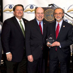 Commissioner Greg Gonzales was honored for his work in advancing financial literacy education across Tennessee. From left to right: TNFLC Director Bill Parker, Senate Majority Leader Mark Norris, Treasurer David H. Lillard, Jr., Commissioner Greg Gonzales, Speaker Beth Harwell. Photo credit: Jed Dekalb