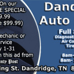 Dandridge Auto Repair Ad May 2017