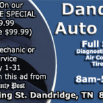 Dandridge Auto Repair Ad May 2017b