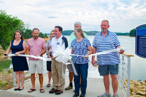 Dandridge Mayor George Gantte Cuts Ribbon to Welcome Community to New Dock.