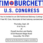 Tim Burchett Jefferson County Post - Burchett baloney cutting 08212017