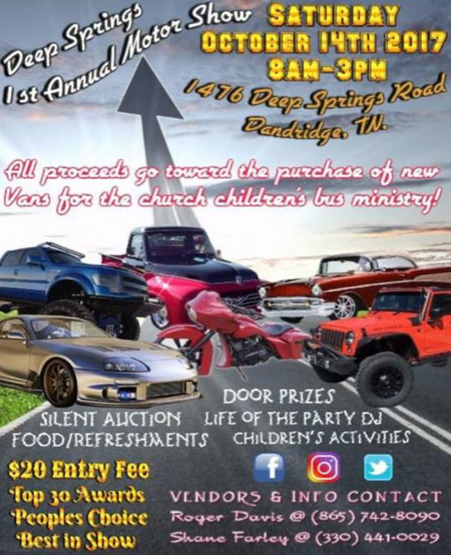 deep springs car show flyer