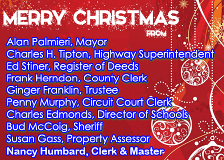 Jefferson County Officials Christmas 2017 Ad