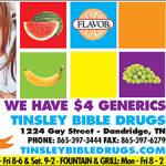 Tinsley Bible Drug Ad Holida 2017