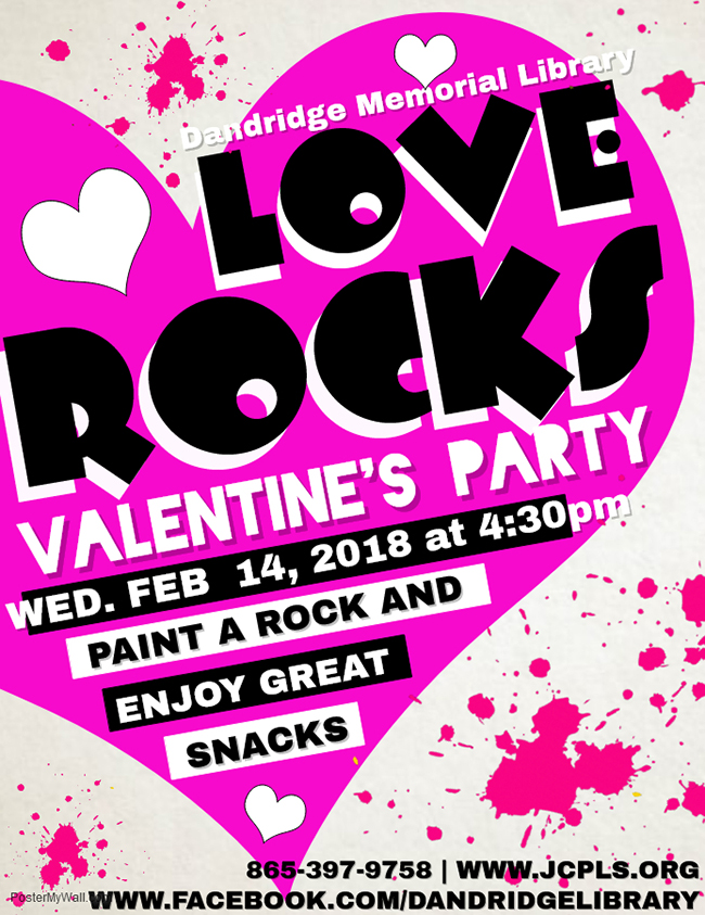 Love Rocks Flyer Dandridge Library 1 01252018