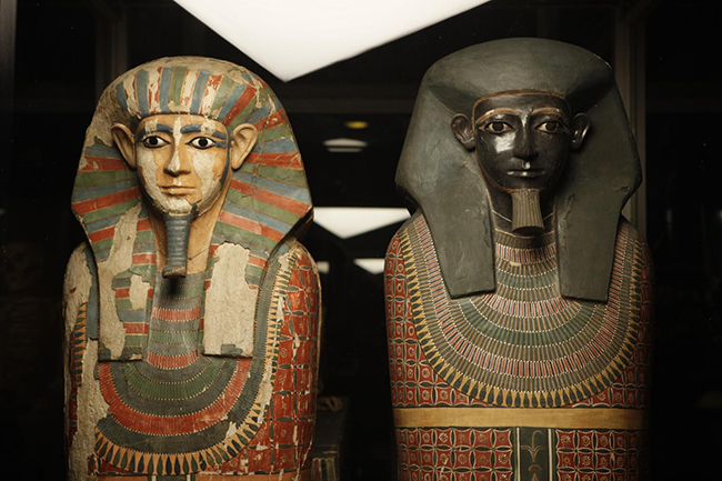 The Two Brothers are the Museum's oldest mummies and amongst the best-known human remains in its Egyptology collection. They are the mummies of two elite men -- Khnum-nakht and Nakht-ankh -- dating to around 1800 BC.Manchester Museum, The University of Manchester
