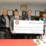 VFW Post 3380, based in Dandridge, has endowed a scholarship to assist future veterans in meeting their educational goals. From left are David Hayes, vice president of the Walters State Foundation; VFW Post Commander Russell Turner; Dr. Tony Miksa, president of Walters State Community College; and Zack Taylor, one of the veterans who spearheaded the scholarship endowment project.