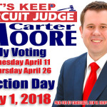Carter Moore For Judge Early Voting 04162018
