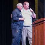 University of Tennessee Athletic Director Phillip Fulmer and Jefferson County High School Head Football Coach Spencer Riley.  Staff Photo by Angie Stanley