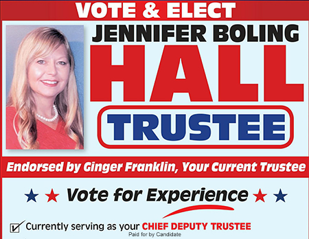 Jennifer Hall For Trustee 2018
