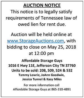 LIEN SALE ad May 2018 - Jeff City