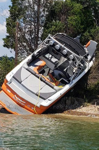Boat Crash Douglas Lake Inside