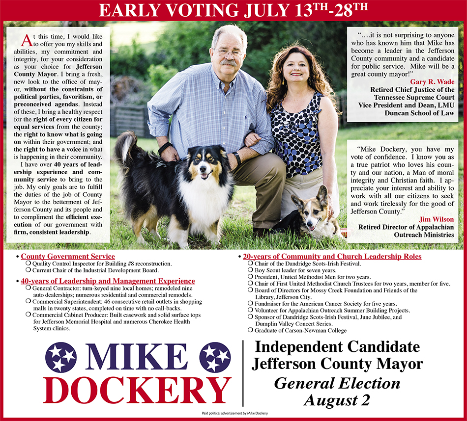 Mike Dockery County Mayor Elect 07162018