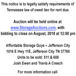 Affordable Storage Guys August 28 2018 Auction