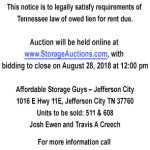 Affordable Storage Guys August 28 2018 Auction 2