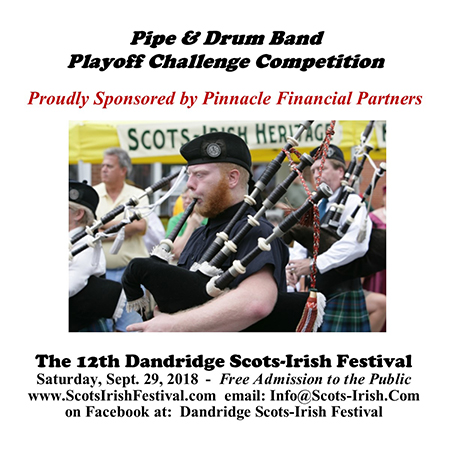 Dandridge Scots-Irish Festival Pipe Drum 2018