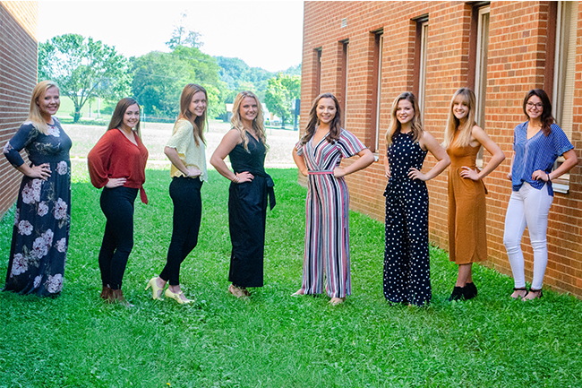 JCHS Senior Homecoming Representatives.  Staff Photo by Angie Stanley.