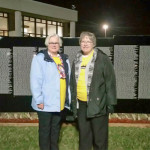Jane Chambers and  Jane Busdeker were among volunteers for the Moving Wall Vietnam Memorial in Morristown.
