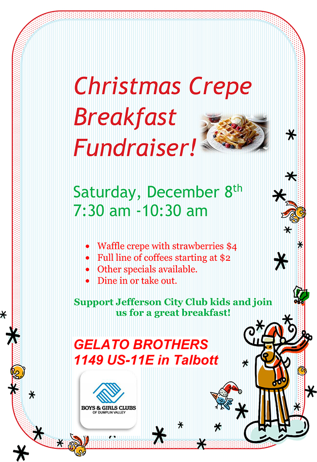 Christmas Crepe Breakfast Fundraiser
