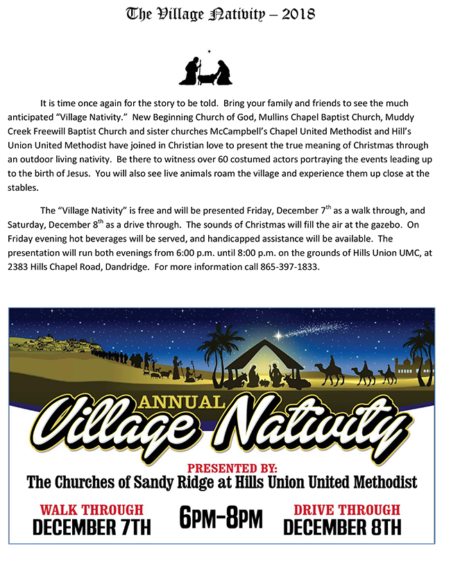 Village Nativity Hills Union 2018